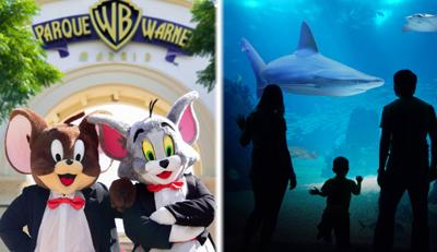 1 día Parque Warner + 1 día Atlantis Aquarium